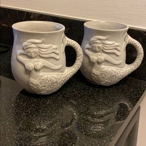 Jonathan Adler Mermaid and Whale Mugs